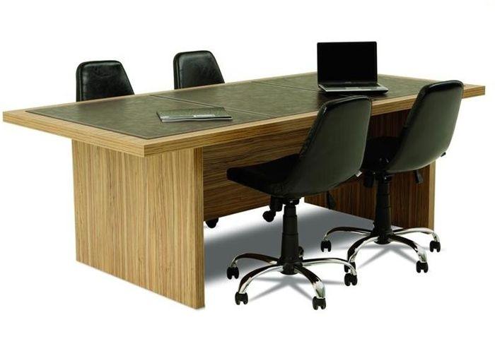 Deri sümen ile kaplanmış modern ofis toplantı masası