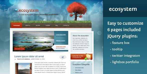 Ecosystem | A versatile, full featured theme