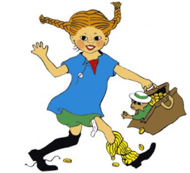 """""""Since the name was remarkable, it had to be a remarkable girl"""", said Astrid Lindgren. I love this Pippi image."""