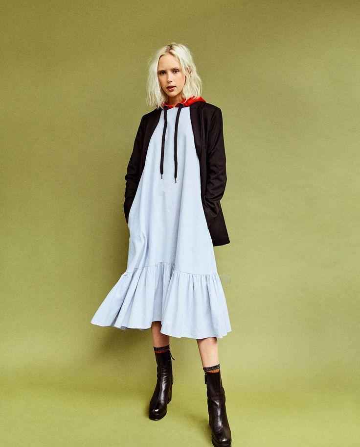 府綢中長版洋裝