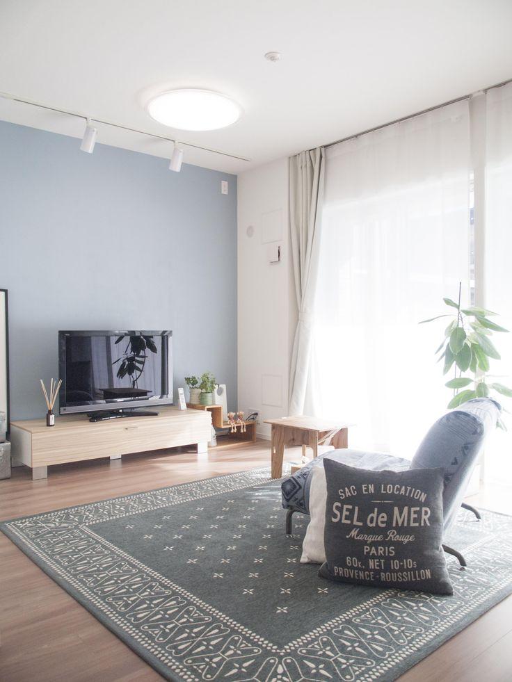 専門家:碧山美樹が手掛けた、鮮やかなブルーのアクセントクロス(建築家とつくりあげた理想のリノベーション空間)の詳細ページ。新築戸建、リフォーム、リノベーションの事例多数、SUVACO(スバコ)