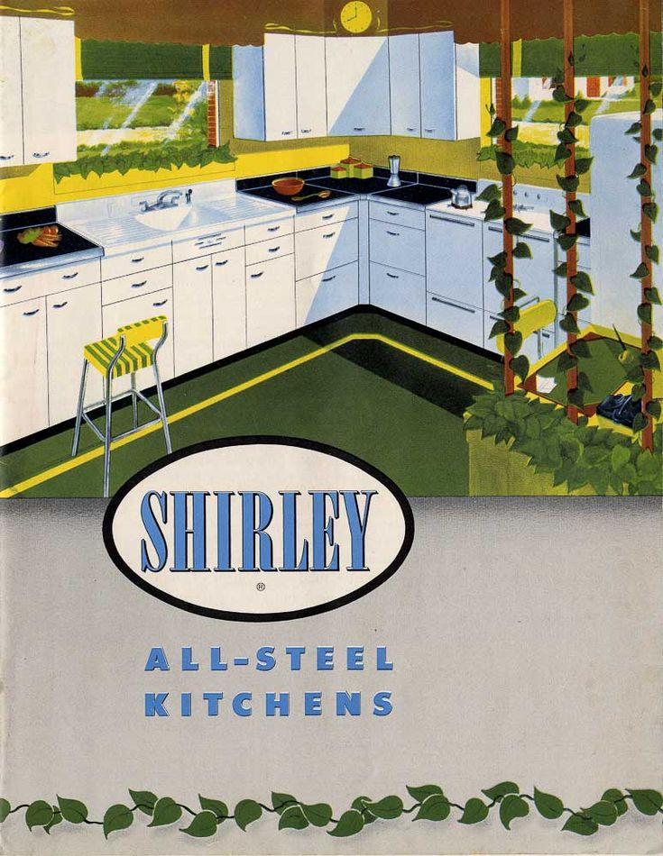 Shirley All Steel Kitchens Of Indianapolis Indiana Kitchen Cabinets Indianaretro Kitchensmidcentury Modern1960s