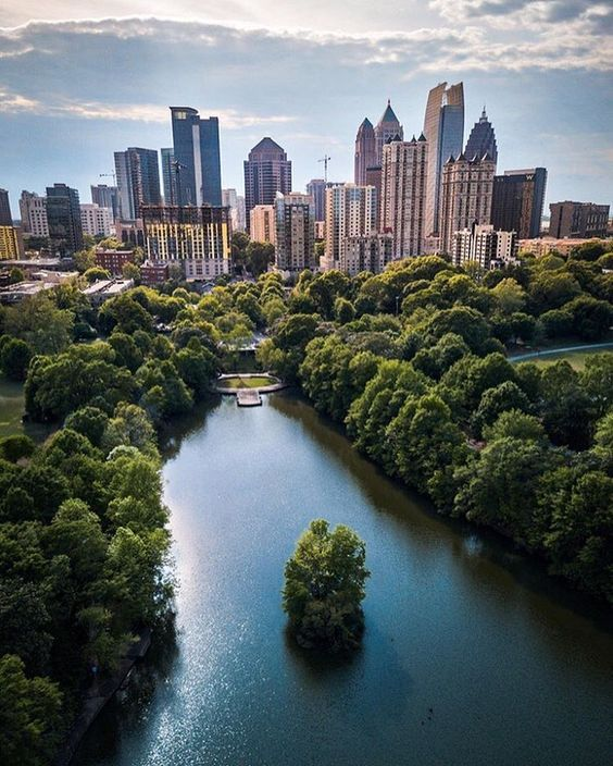 Wow, just wow. Check out ATL looking like NYC in this #drone shot!  #weloveatl #whyiloveatl