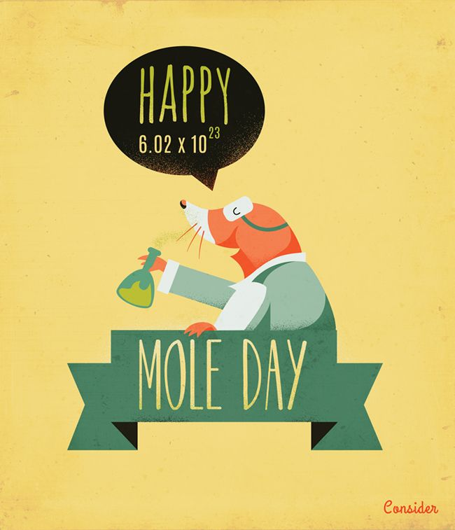 October 23 Happy Mole Day - Just because