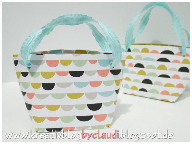 www.kreativblogbyclaudi.blogspot.de: Anleitung Shopping Bag
