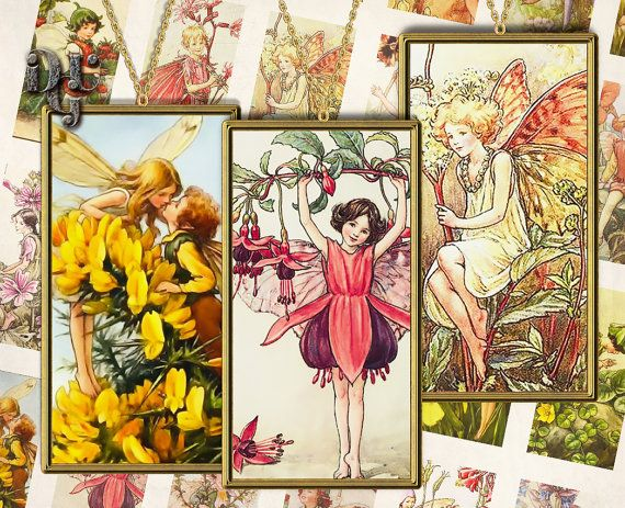 Flower Fairies DOMINO  Cicely Mary Barker's by DreamUpGraphic