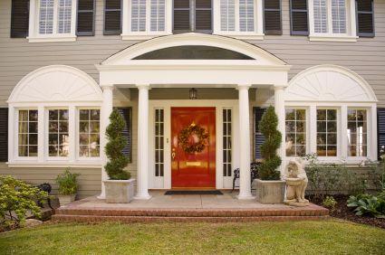The red front door