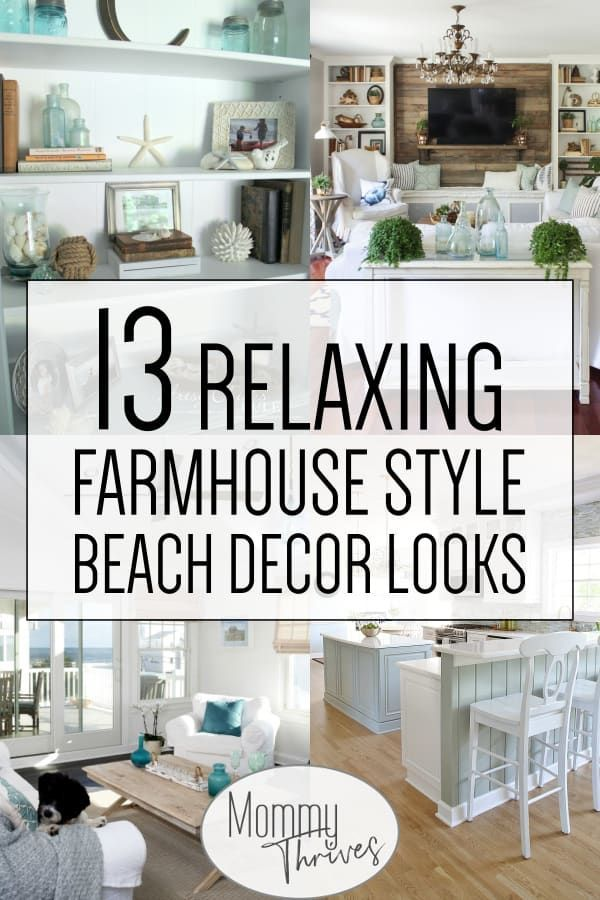 Coastal Farmhouse Decor Ideas For All Your Rooms Beach Decor In The Living Room Bathroom In 2020 Coastal Farmhouse Decor Farm House Living Room Beach Cottage Decor