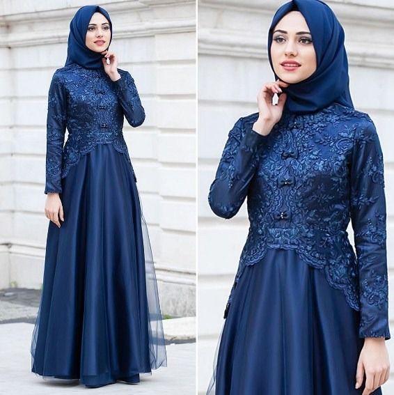 Model Baju Gaun Brokat Muslim Terbaru Hijabfest