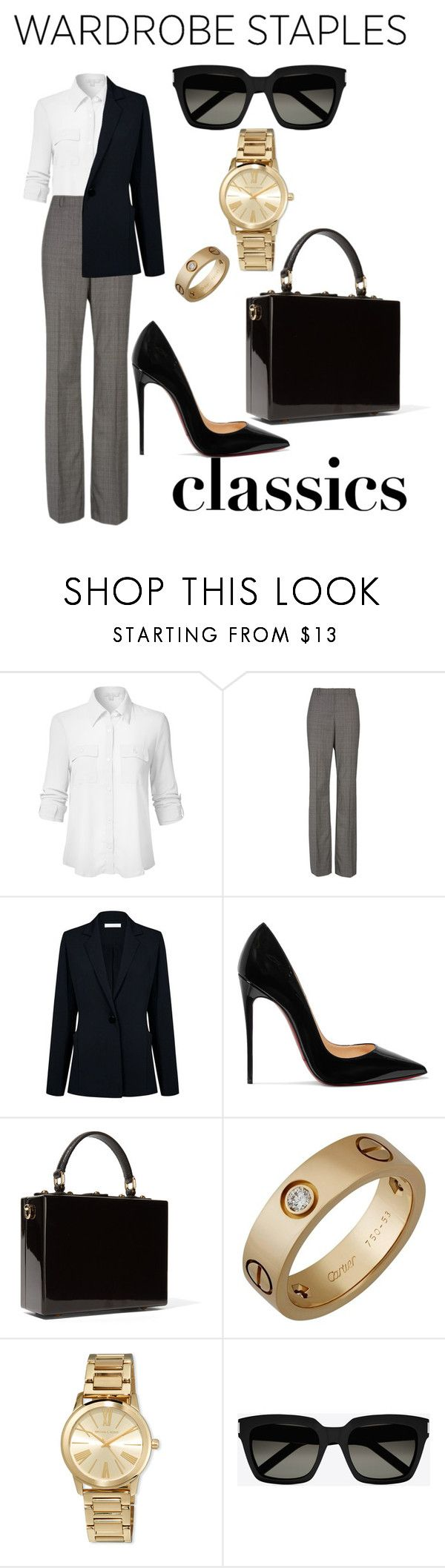 """""""Untitled #193"""" by anjieffat on Polyvore featuring BOSS Hugo Boss, Atea Oceanie, Christian Louboutin, Dolce&Gabbana, Cartier, MICHAEL Michael Kors and Yves Saint Laurent"""
