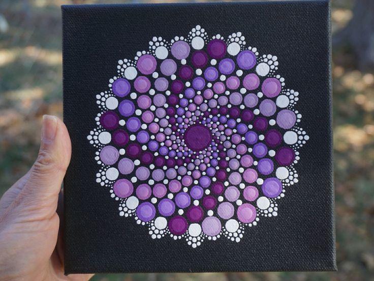 Punto Mandala pintura Trippy resplandor en el oscuro arte