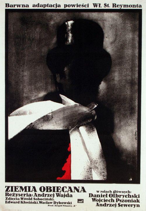 The Promised Land / Ziemia obiecana, Polish Movie Poster, designer Waldemar Świerzy year 1974