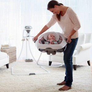 The Graco baby bouncer seat and swing set is a great 2-in-1 - both make great gifts for new parents!