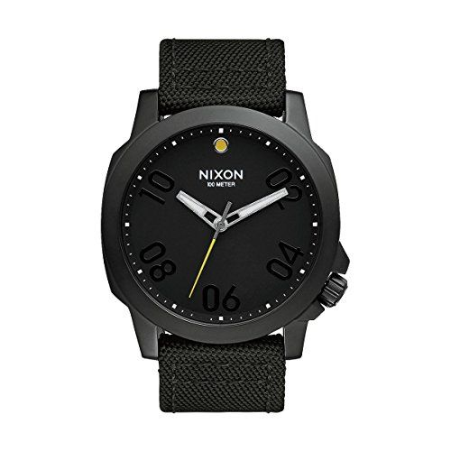 Men's Wrist Watches - Nixon A514001 Ranger 45 Nylon All Black Mens Watch ** To view further for this item, visit the image link. (This is an Amazon affiliate link)