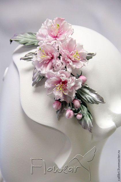 Веточка сакуры - заколка или ободок
