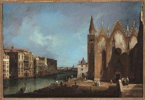 Giovanni Antonio Canal, detto il Canaletto, Il Canal Grande da Santa Maria della Carità verso il bacino di San Marco, 1726, Olio su tela, 91,6 x 135,3 cm