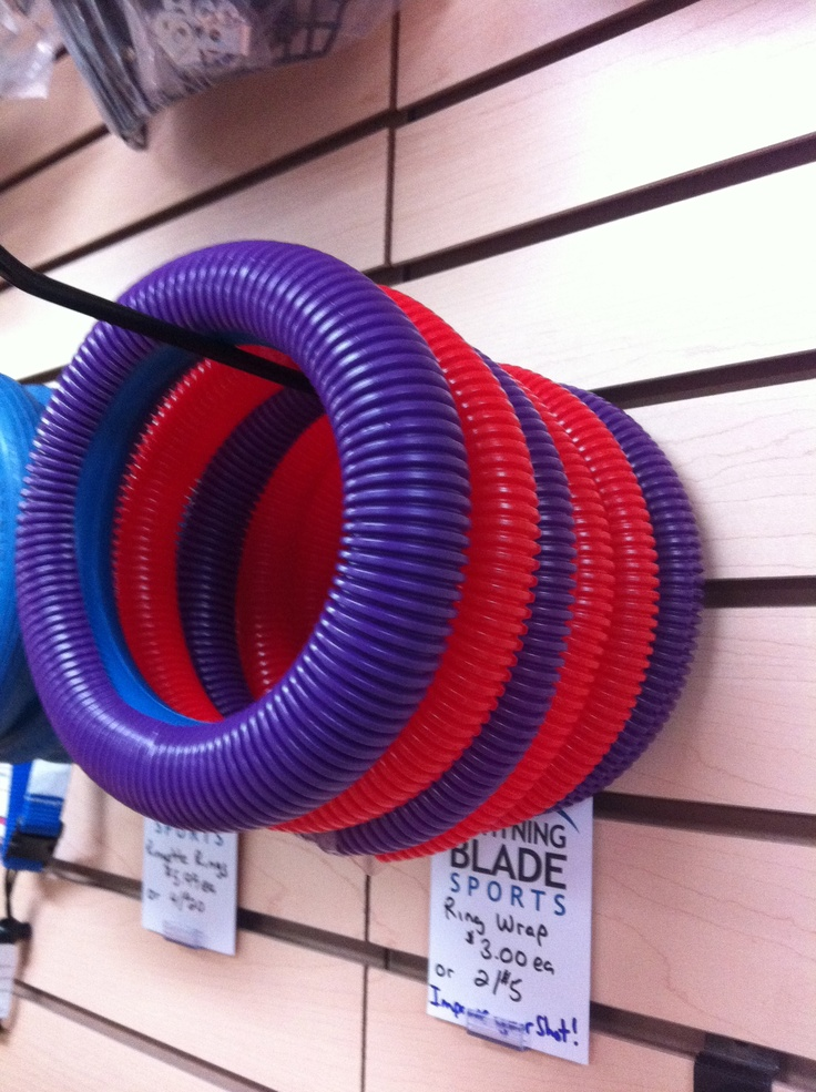 Ring Wrap. Perfect for the girls to play outdoor ringette..allows the ring to slide on outdoor surfaces. Great Easter gift! www.lightningblade.com