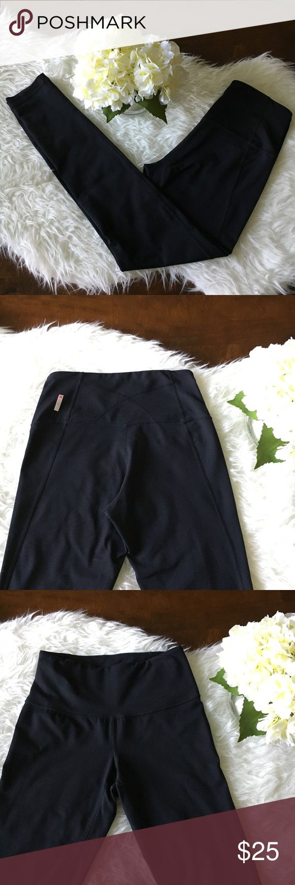 """Zella Black Live In Leggings Excellent used condition. Zella black Live In Leggings from Nordstrom. Features crotch gusset (aka no 🐫 toe) and small pocket at waistband for key or headphones. These are very comfortable. Selling because these are too long on me and I have to roll them up which isn't super flattering on me (I'm 4'11). Size S. 12"""" stretchy waist, inseam: 27"""". Minor if any pilling. No tears, holes, or stains. Smoke free home. No trades please. Zella Pants Leggings"""