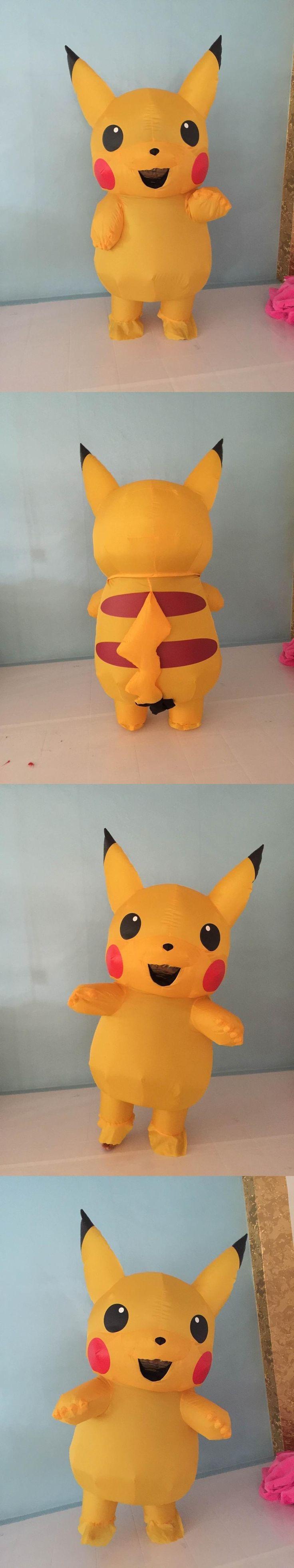 Inflatable Pikachu Costume Pokemon costume halloween costumes for women Girls sexy kids pikachu mascot costume