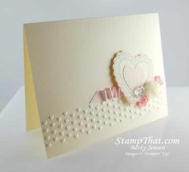 SU! Hearts a Flutter Valentine, New Baby, Bridal Shower Card