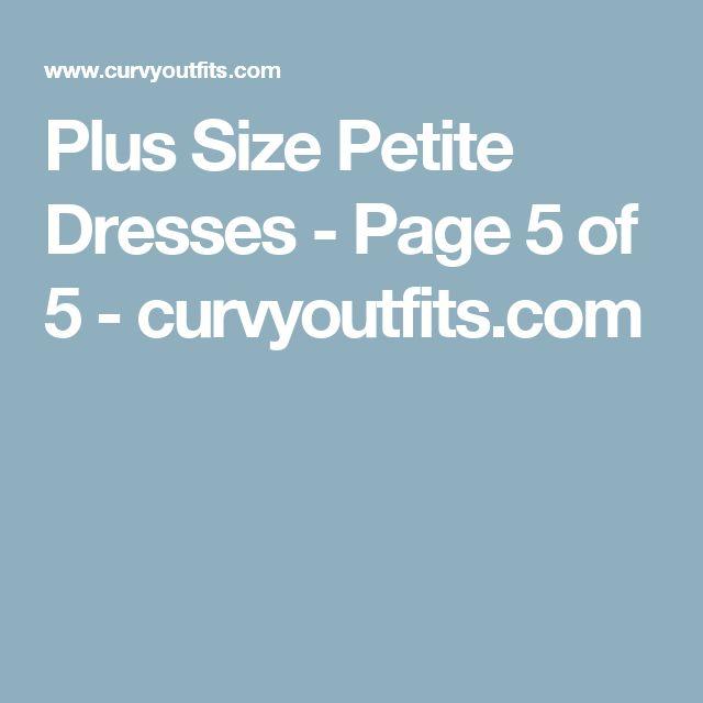 Plus Size Petite Dresses - Page 5 of 5 - curvyoutfits.com