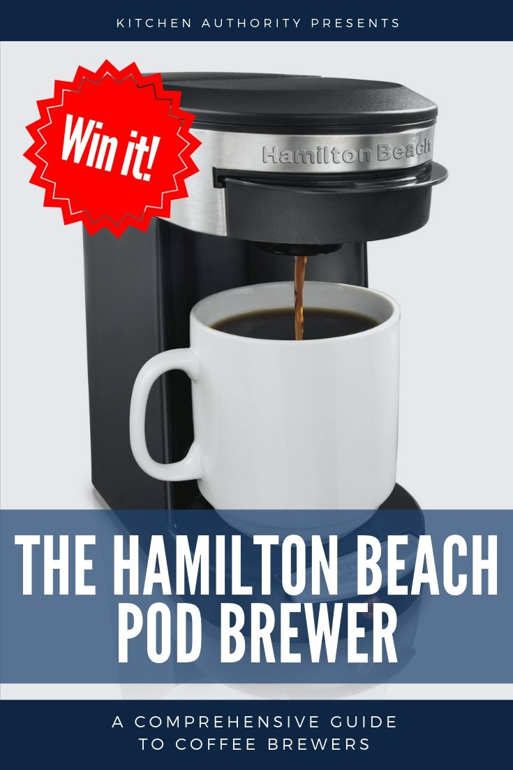 Hamilton Beach Personal One Cup Pod Brewer The Perfect Coffee