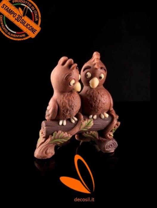 stampo Papagalli in Cioccolato