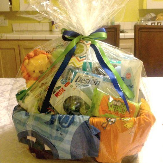 boy baby shower gift basket gifthosting ideas pinterest