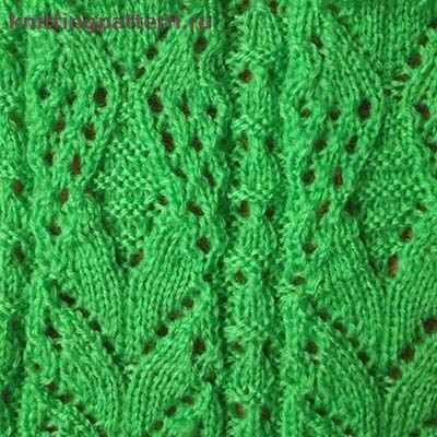Узор для вязания спицами Широкие полосы