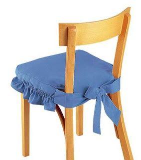 ideas en costura simple para vestir las sillas del comedor o cocina aportando cierto encanto jugando