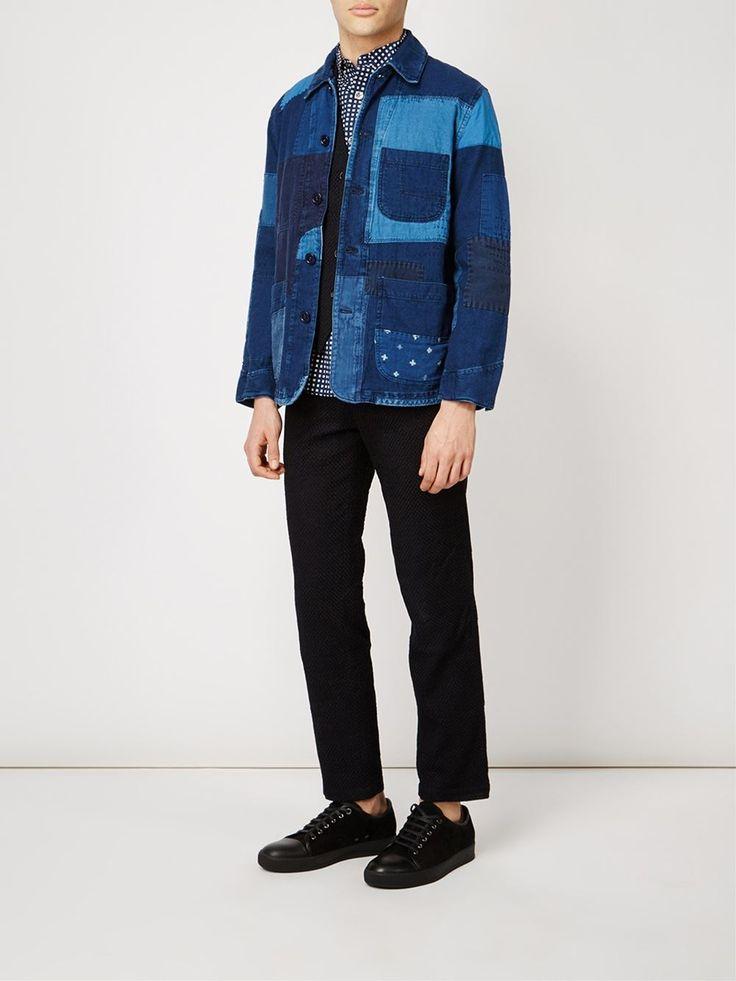 Blue Blue Japan patchwork denim jacket