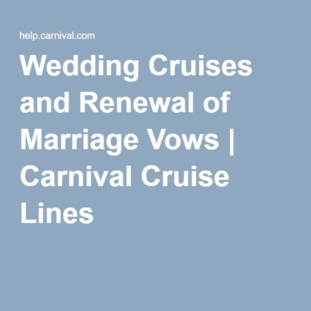 Wedding Cruises and Renewal of Marriage Vows | Carnival Cruise Lines