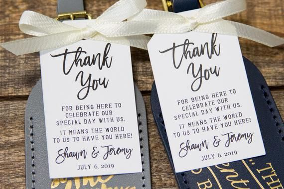 Thank You Tags Wedding Favor Tag Luggage Favor Tags Etsy Luggage Tag Wedding Favor Wedding Favor Tags My Wedding Favors