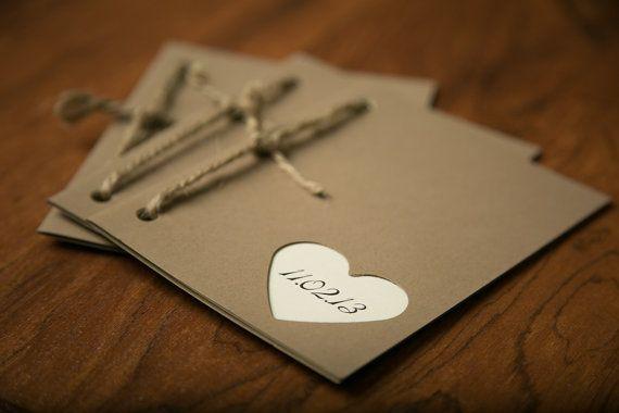 Wedding Programs -Rustic and modern