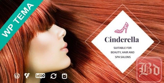 Cinderella   Theme for Beauty, Hair and SPA Salons