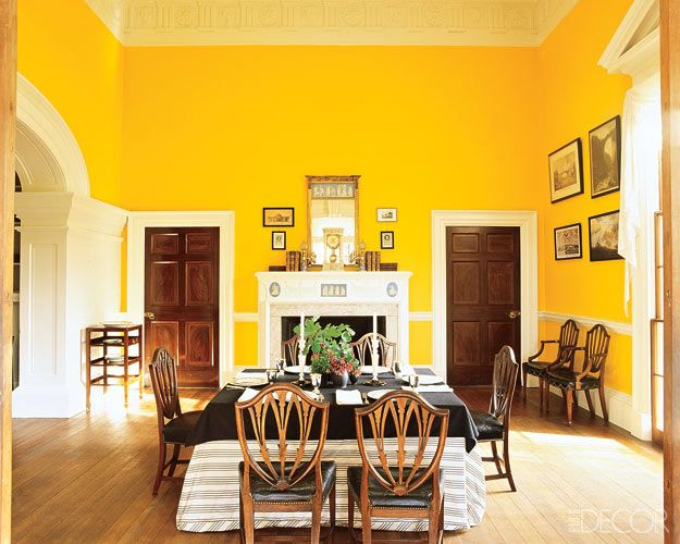 dining room at Monticello- you can buy the paint from Ralph Lauren, it's called Monticello Yellow