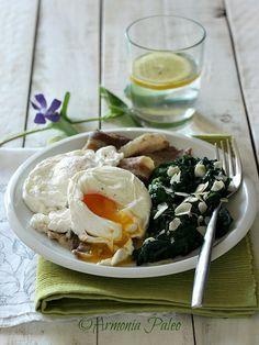 Uova in Camicia con Pancetta e Spinaci