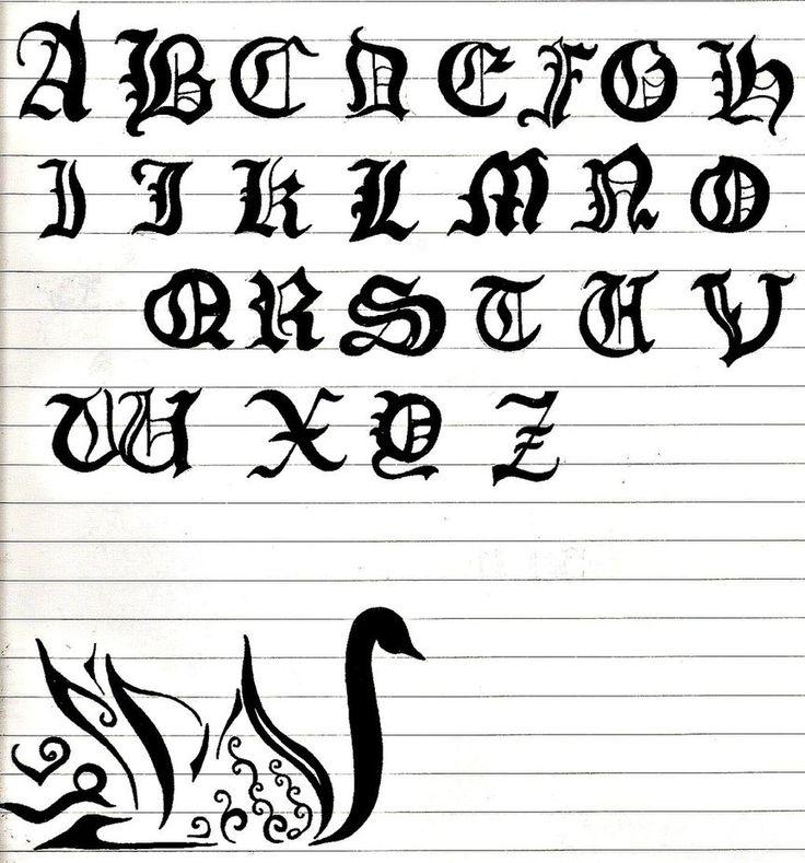 Megan In Fancy Writing Alphabet