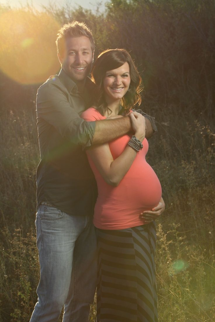 Couple Maternity Photo...I like the t-shirt and maxi skirt