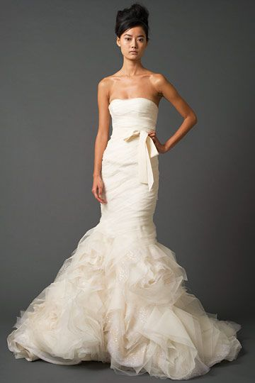 I've changed my mind about mermaid gowns! This is just too sweet and romantic.