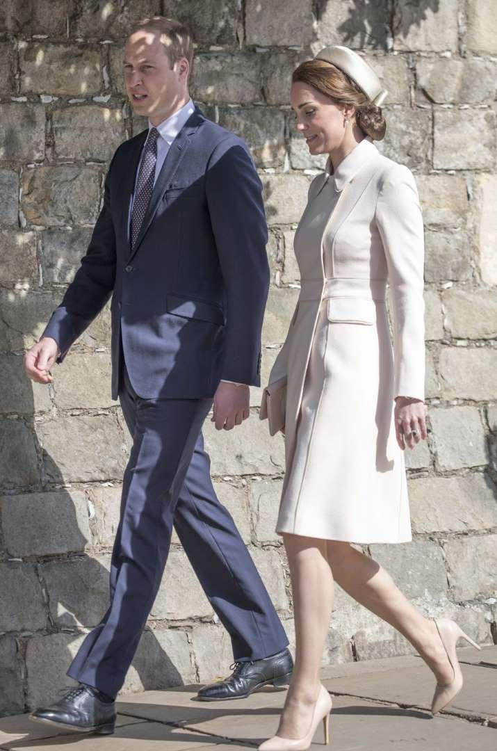 La duchesse de Cambridge, née Kate Middleton, et le prince William à Windsor, le 16 avril 2017. - Fournis par Lagardère Active Digital