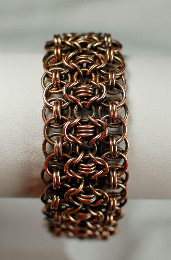Antique Copper Rondo a la Byzantine Bracelet Cuff