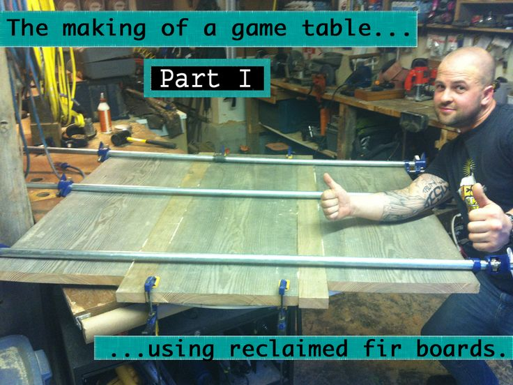 The making of a game table  Pic 1