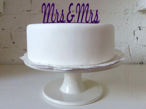 Mrs & Mrs Civil Partnership / Lesbian Wedding by MissSarahCake, £12.99