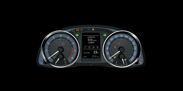 All New Corolla Altis 1800 G Speedometer