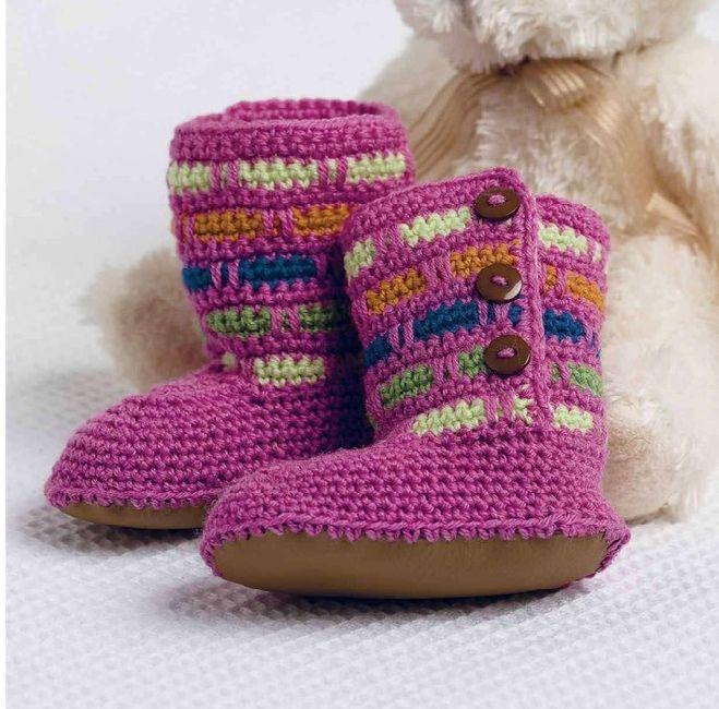 Mejores 8 imágenes de Ganchillo en Pinterest | Zapatos de bebé ...