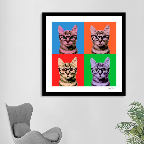 Discover «Warhol cat», Exclusive Edition Fine Art Print by Luigi Tarini - From $25 - Curioos