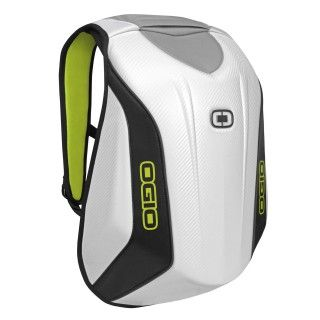 OGIO Mach 3 Motorcycle Backpack in  white and high viz yellow #backpack #ogio #ogiowishlist15