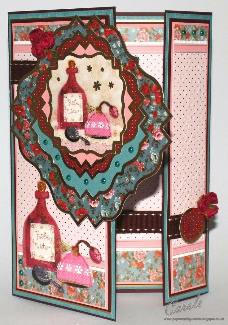 Crafter's Companion, Halcyon Days Card Kit, Offset Gatefold Card