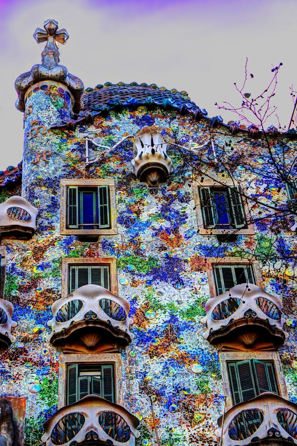 "500px / Photo ""Casa Batlló"" by Sergio Otero  would love to live in this colorful place"